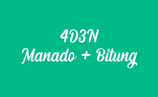 Paket Tour Explore Manado Bitung 4D3N