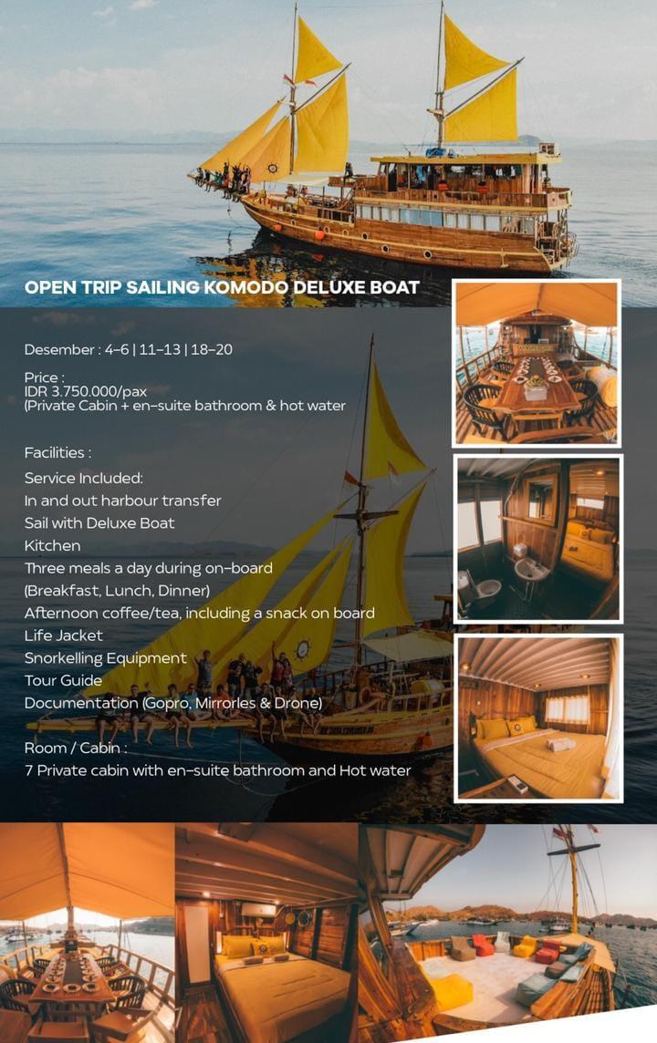 Open trip labuan bajo kapal phinisi