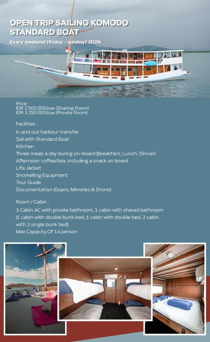 Open trip labuan bajo kapal vip