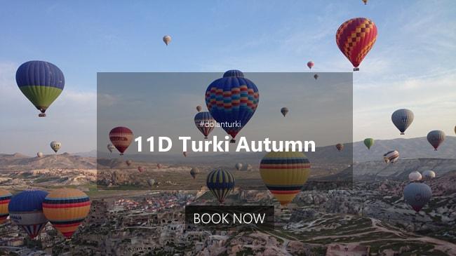 11D Paket Tour Turki Autumn Tahun 2020