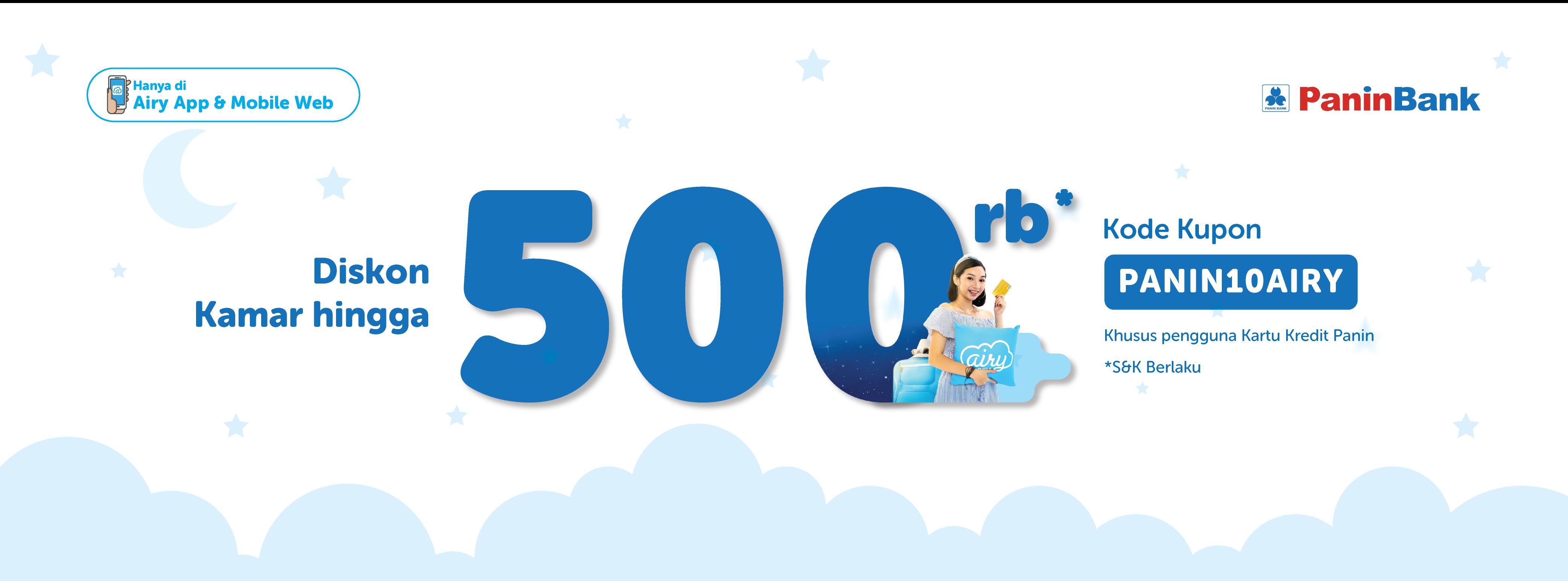 Kode Promo Diskon Kamar Hingga Rp. 500.000 Kartu Kredit Panin di Airyroom